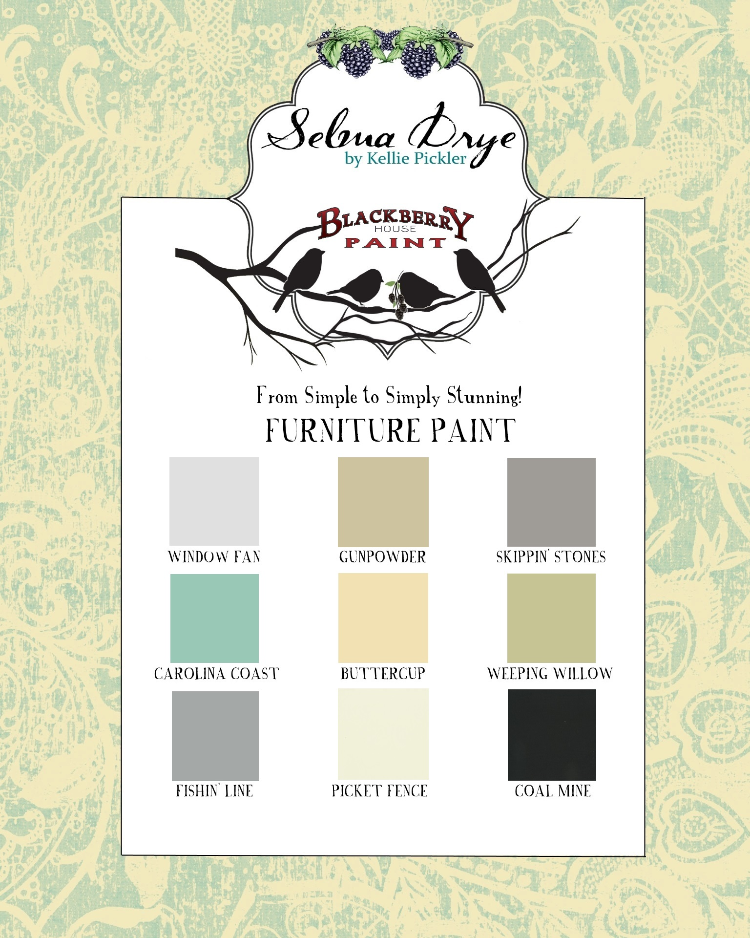 Selma Drye Color Chart Final With Colors